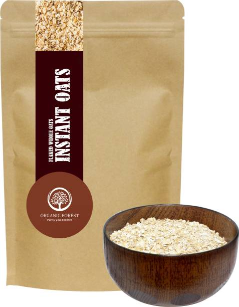 organic forest Instant Oats, 1 Kg Premium Quality , High in Fiber Antioxidants and Protein, Gluten Free (1 Kg)