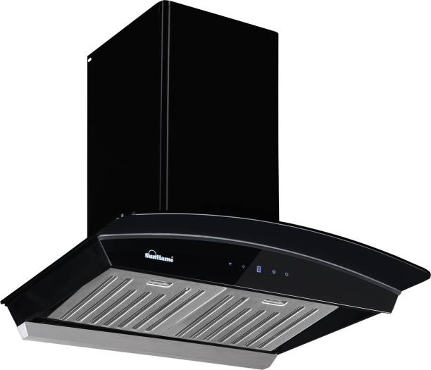 SUNFLAME CH DAHLIA 60 BK AC DX Auto Clean Wall Mounted Chimney
