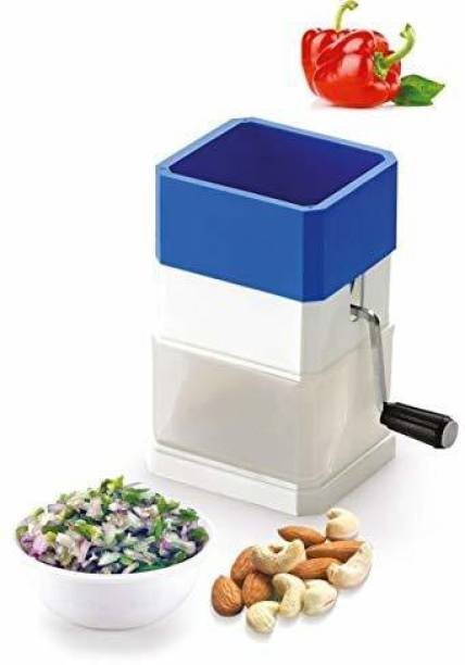 ROXXON by ACTIONWARE Chilly & Dry Fruit Cutter with Stainless Steel Blade   Onion Cutter Chopper/Chilli Cutter/Vegetable Cutter/Mirchi Cutter/Nut Cutter/Dry Fruit Cutter SQUARE MODEL (1Pc,Multicolour) Vegetable Chopper
