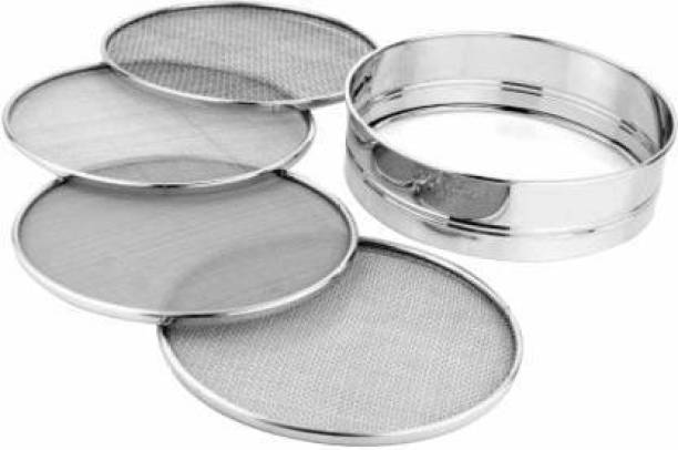 Desai Brother 4 In 1 Stainless Steel Folding Atta Chalni Best Quality Colander Collapsible Colander