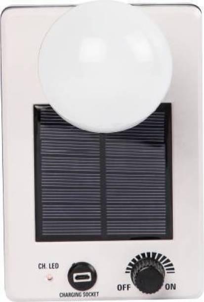 THUNDER VINTAGE SOLAR LIGHT White Plastic Table Lantern