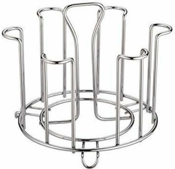 DHARMIK FASHION plain glass stand Steel Glass Holder