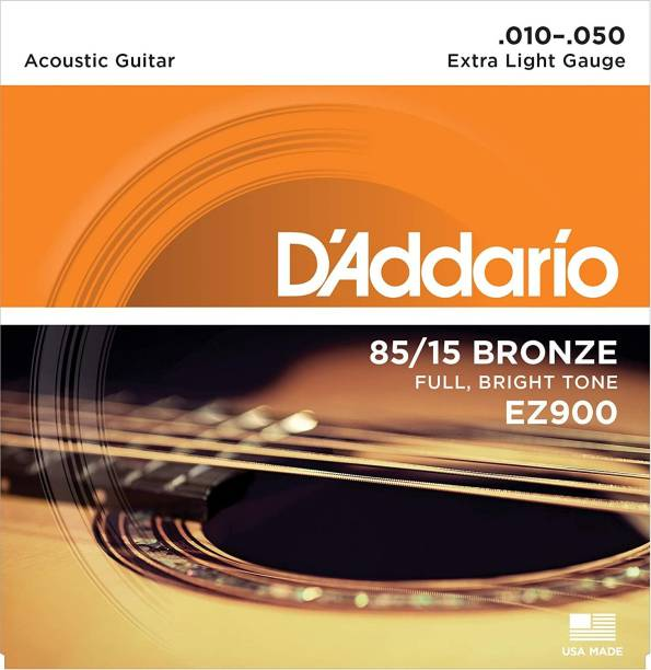 D'ADDARIO Acoustic EZ900 {.010-.050_Extra Light Gauge} 85/15 FULL BRIGHT TONE_Stainless Steel Material Guitar String