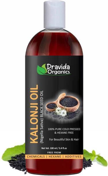 Dravida Organics Cold Pressed Kalonji oil Hair Oil