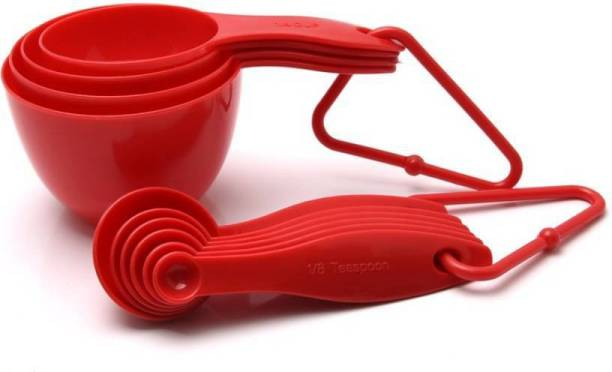 JB Kiara Textiles Red Measuring Cups and Spoon Set Measuring Cup Set