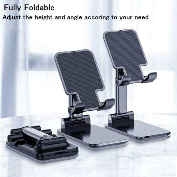 Flipkart SmartBuy FOLD Mobile Stand Holder - [2020 Updated] Angle & Height Adjustable Mobile Holder