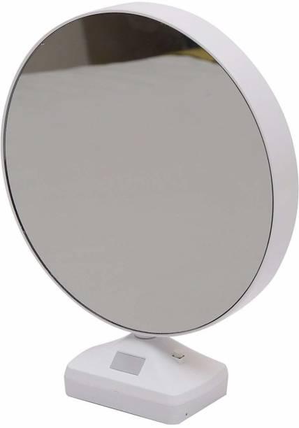 sarvopari mega mall Magic Mirror Photo Frame| Magic Mirror led Photo Frame| Birthday/Valentine's Gift| Surprice Decoration| Attractive Mirror| Round Mirror 8 inch table
