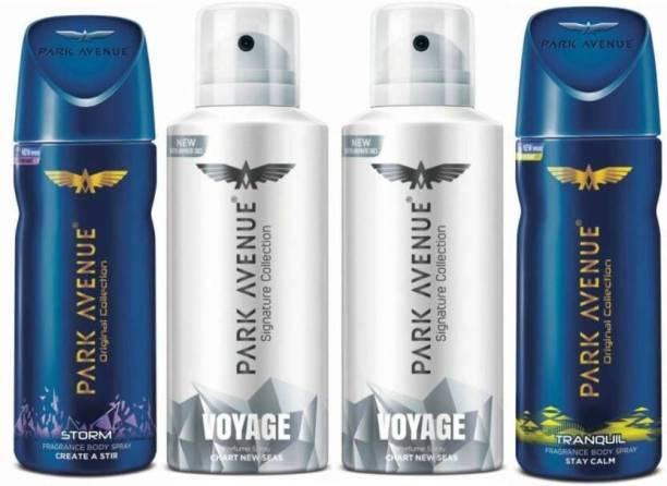 PARK AVENUE 2 Voyage , Storm & Tranquil Deodorant Spray  -  For Men