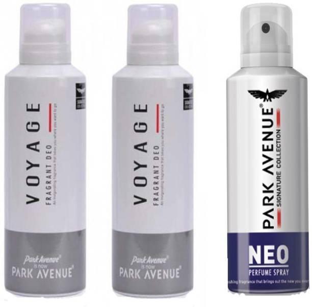 PARK AVENUE 2 Voyage & 1 Neo Deodorant Spray  -  For Men