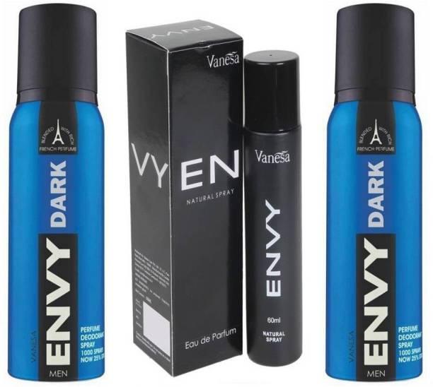 ENVY DARK 2 Pcs. & Men 60ml 1 Pc. Deodorant Spray  -  For Men