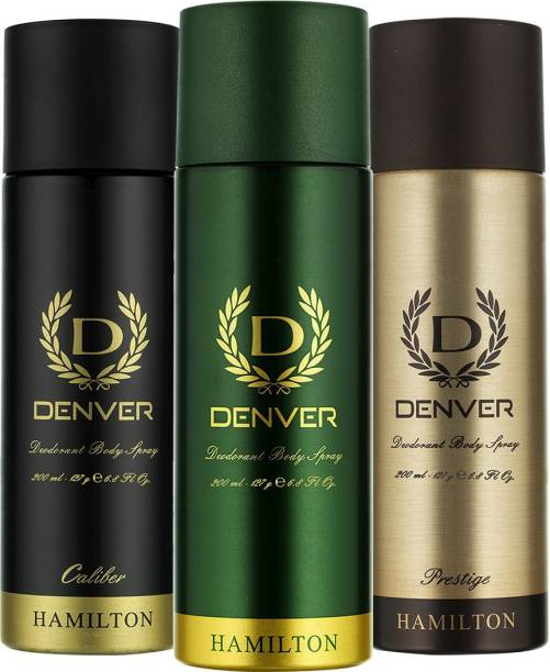 DENVER Hamilton, Prestige and Caliber Combo Deodorant Spray  -  For Men