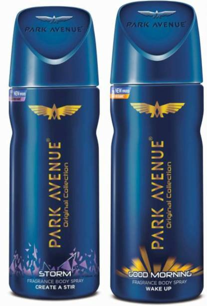 PARK AVENUE 1 Storm and 1 Good Morning Deodorant Combo for Men (Pack of 2) Deodorant Spray  -  For Men