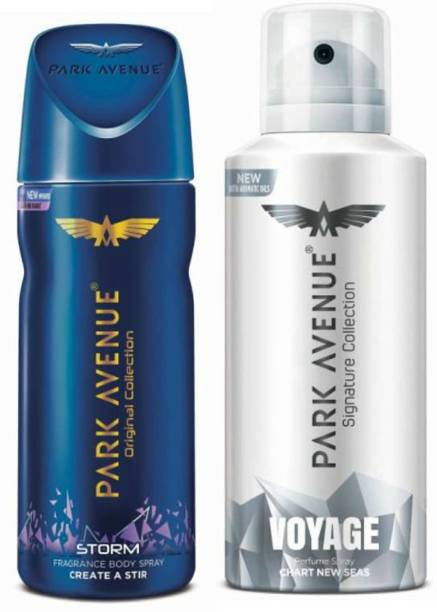 PARK AVENUE One Storm, One Voyage Signature Deodorant Combo for Men(Pack of 2) Deodorant Spray  -  For Men