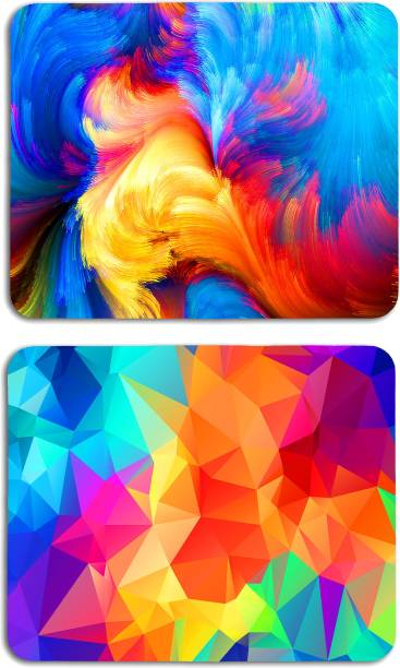Studio Shubham combo of 2 watercolor texture abstract anti skid mouse pad for laptop / mouse pad for computer / mouse pad for gaming / mouse pads for pc Mousepad