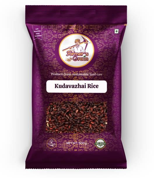 Farmers Grain Traditional Kudavazhai Rice (1 kg) Brown Boiled Rice (Medium Grain, Parboiled)