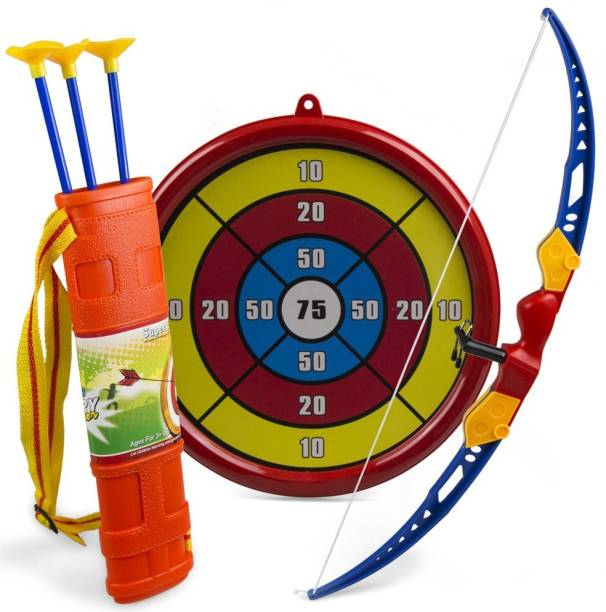 Miss & Chief Boys and Girls Archery Bow and Arrow Set with Target Board for Kids Archery Kit