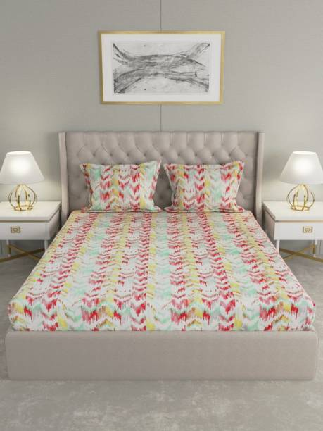 Raymond Home 104 TC Cotton Double Abstract Bedsheet