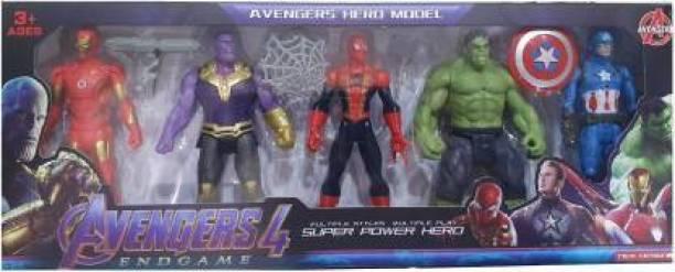 Kidz N Toys Avengers Endgame Action Figure of 5 Super Heroes