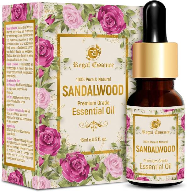 Regal Essence Sandalwood Essential Oil For Skin & Face 100% Pure & Natural Best Therapeutic Grade for Aromatherapy