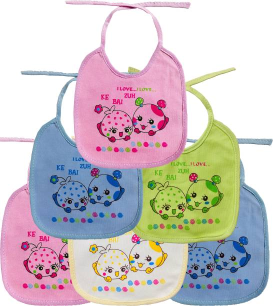 FIRST TREND Waterproof baby bibs/aprins for the babies Mushroom print pack of 6