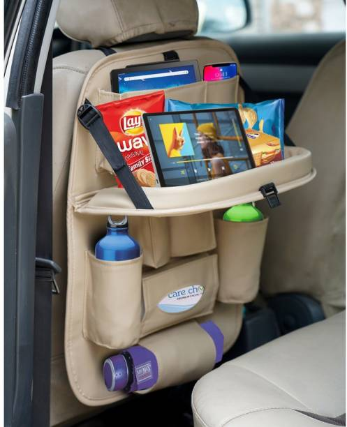 akhilesh PU Leather Car Back Seat Organizer Storage Bag & Bin Car Multi Pocket