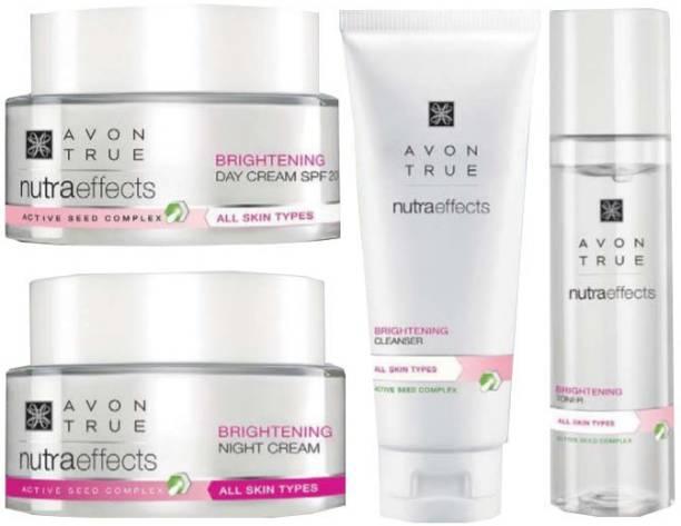 AVON Nutraeffects Brightening Day Cream SPF 20 + Night Cream + Toner + Cleanser