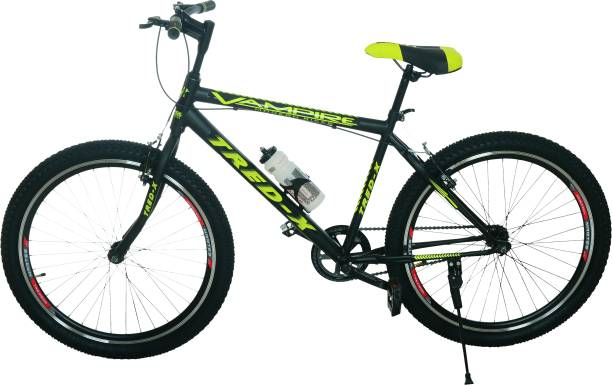 Vampire Tred-X Hybrid Cycle/City Bike (Single Speed, Green/Black) 26 T Road Cycle