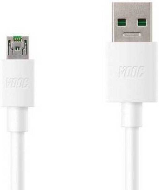 MIFKRT 5V/4A Vooc SuperFast Data Sync Charging Cable for Oppo F11 Pro & All Oppo Smartphone -White 1 m Micro USB Cable