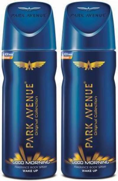 PARK AVENUE Good Morning pack of 2 Deodorant Spray  -  For Men