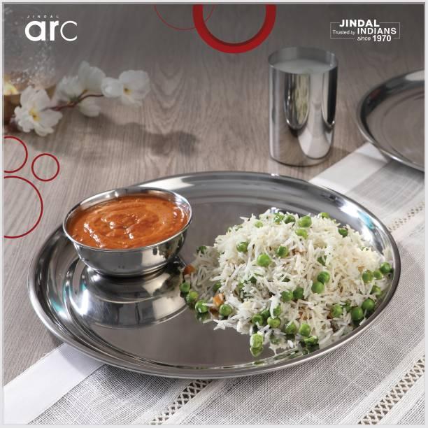 Jindal ARC Pack of 18 Stainless Steel Dinner Set