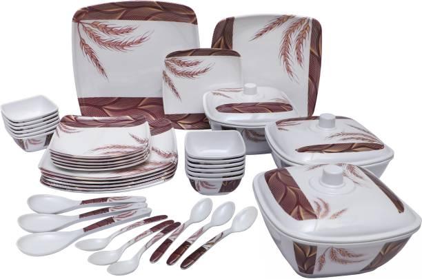 flowerware Pack of 40 Melamin Dinner Set