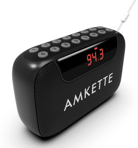 AMKETTE Pocket Blast Bluetooth Speaker with FM, FM and Voice Recording, USB/SD Card and AUX FM Radio
