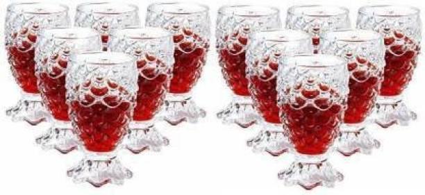 Krija (Pack of 12) PINEAPPLE SHAPED GLASS (12) Glass Set