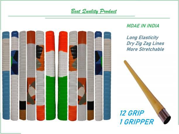 VSM Multi Color Most demandable Product Handle Bat Grip 12 Grip and 1 Gripper Kone Dry Feel