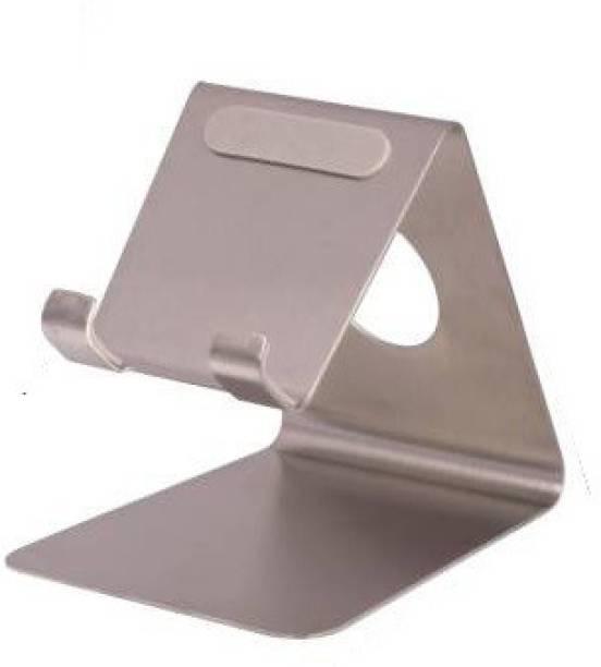 A-Mart Universal Desktop Mobile Phone Stand/Holder Premium Quality Holder Stand - Silver Color Pack of 1 Mobile Holder