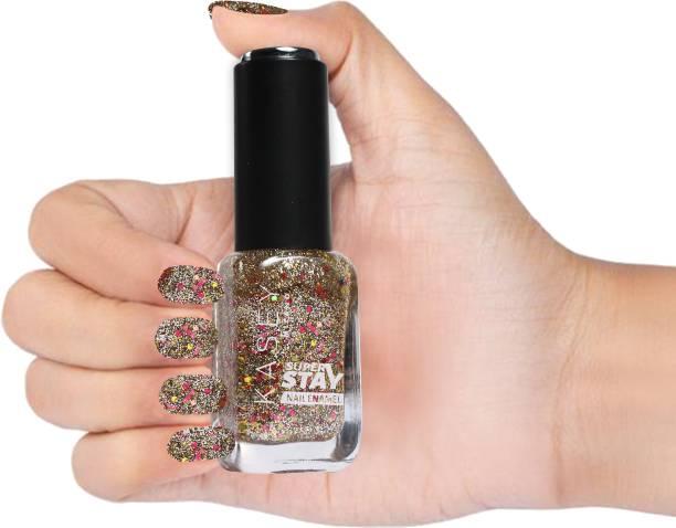 KASEY Crystal crush Nail Paint Silver