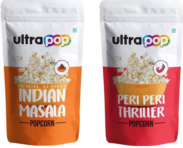 Ultrapop Indian Masala and Peri PeriPopcorn Flavour (10+10) 35g each 700 g Indian Masala and Peri Peri Popcorn