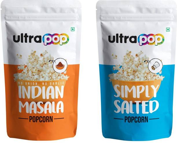 Ultrapop Indian Masala and Simply SaltyPopcorn Flavour (8+8) 35g each 560 g Indian Masala and Simply Salty Popcorn