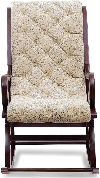 W.S.HANDICRAFTS Furnitures Touffy Solid Wood 1 Seater Rocking Chairs (Finish Color - Brown) Solid Wood 1 Seater Rocking Chairs