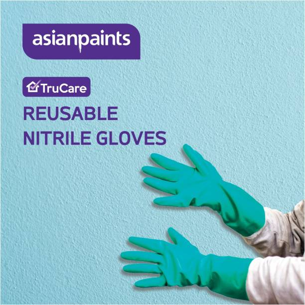ASIAN PAINTS TruCare Reusable Nitrile Gloves with superior chemical and mechanical resistance (Set of 5 pairs) Nitrile  Safety Gloves