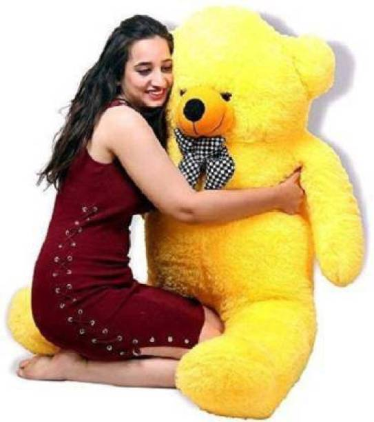 MentalLook ellow 3 Feet Teddy Bear Yellow Teddy Bears Huggable/Valentine/Loveable For Someone Special - 91 cm (Yellow)  - 91 cm