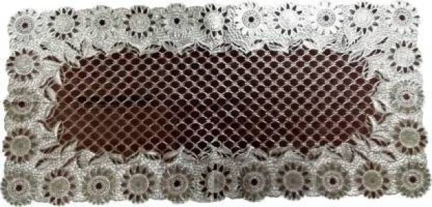 PURVI COLLECTIONS Brown 80 cm Table Runner