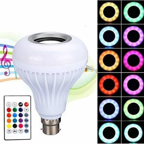 UPROKT Bluetooth Speaker Multi Color Changing RBG Led Music Light Bulb Bluetooth Music Bulb Led For Party Home Decoration And Night Light WIth 7W RBG LED and 5 W bluetooth Sterio Speaker For Home Party Decoration, Birthday Celibration Night Light Smart Bulb Smart Bulb