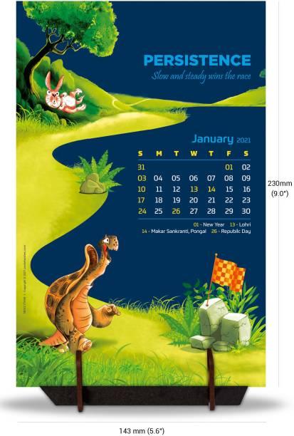 pocket wishes Desk Calendar January 2021 -December 2021 Table Calendar