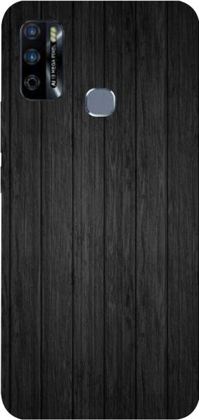PRINT EVERYTHING Back Cover for Infinix Smart 4 Plus ( Black Layers Canwas Design Print )