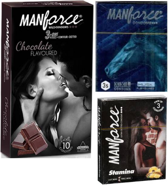 MANFORCE CHOCOLATE FLAVOR CONDOM FOR MEN , XXL MUSK FLAVORED CONDOM , STAMINA PINEAPPLE FLAVOR CONDOM FOR MEN BIG AND SMALL BOTH AVAILABLE ,EXTRA DOTTED CONDOM, DOTTED CONDOM , WILD CONDOM FOR MEN , 16 PIC IN SALES PACKAGE , EXTRA DOTTED CONDOM FOR MEN . Condom