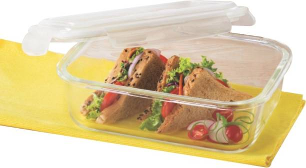 BOROSIL Microwavable Klip - N - Store  - 640 ml Glass Grocery Container