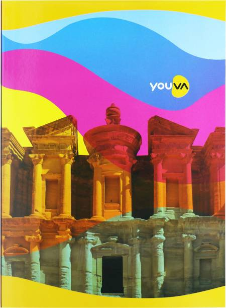 NAVNEET Youva Soft Bound Long Book Rainbow 21x29.7 cm A4 Notebook Single Line 172 Pages