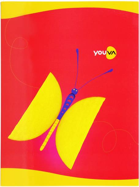NAVNEET Youva Soft Bound 18x24 cm Assorted Notebook Medium Square 172 Pages