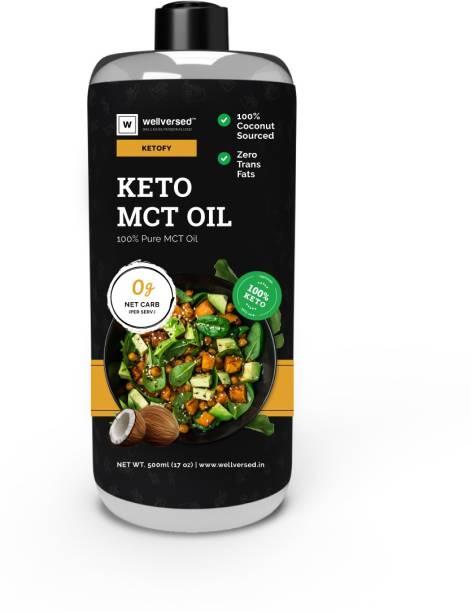 Ketofy Keto MCT Oil (500ml) Coconut Oil Plastic Bottle